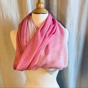NWT New York & Co Pink Ombre Infinity Scarf